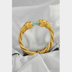 18kt Gold Lion's Head Bracelet, Zolotas