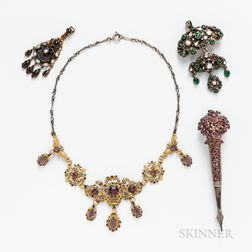 Group of Renaissance Revival Jewelry