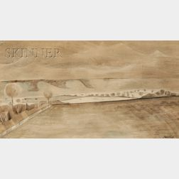 Paul Nash  (British, 1889-1946)      Landscape