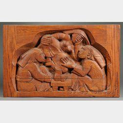John Hollister Risley  (b. 1919)  Figural Wood Sculpture