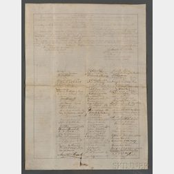 (Constitutional Amendment and Slavery), Historically Important Petition Proposing th   e XIII Amendment Abolishing Slavery