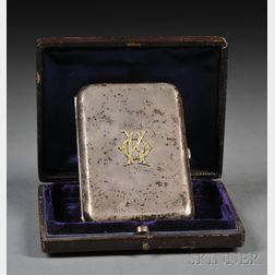 Silver and 14kt Gold Cigarette Case