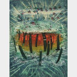 Roberto Matta (Chilean, 1911-2002)      Il Explose