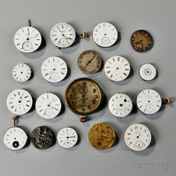 Nineteen Swiss Watch Movements