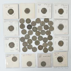 Forty-eight Three Cent Nickel Trimes