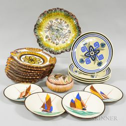Group of Quimper Pottery Tableware