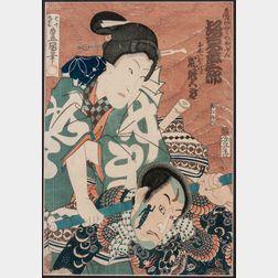 Utagawa Kunisada (Toyokuni III, 1786-1864) Woodblock Print