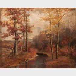 Harriet Randall Lumis (American, 1870-1953)      Autumn Landscape