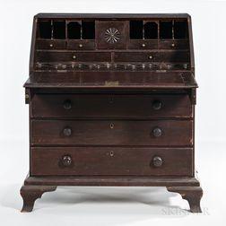 Brown-painted Desk
