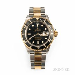 Rolex Two-tone Submariner Reference 16613 Wristwatch