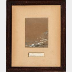 William Trost Richards (American, 1833-1905)      Coastal Seascape