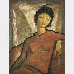 Angel Botello (Puerto Rican, 1913-1986)      Olga