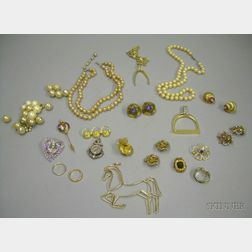 Assorted Costume and Estate Jewelry