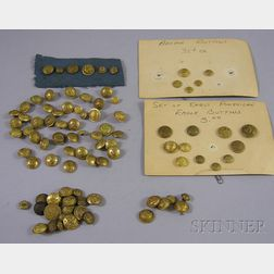 Collection of Mostly 19th Century U.S. Military Brass Buttons