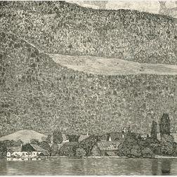 After Gustav Klimt (Austrian, 1862-1918)      Unterach on Lake Atter