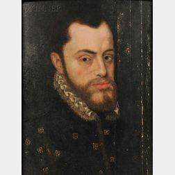 Anthonis Mor van Dashorst (Dutch, 1516-1575) After Giacomo Antonio Moro      Copy of the Portrait of Philip II of Spain