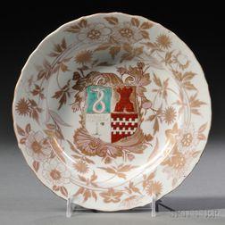 Rare 18th Century Japanese Porcelain Armorial Plate