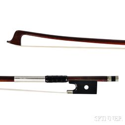 French Nickel-mounted Violin Bow, Workshop of Louis Bazin