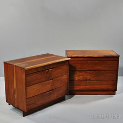 Two George Nakashima (1905-1990) Chests of Drawers