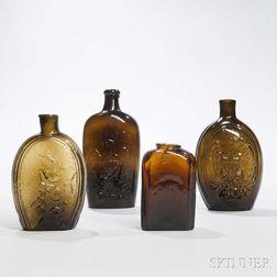 Four Blown Flasks