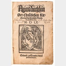 Agendbuchlein der Christlichen Kirchen, inn des Heiligen Reichs Freystadt Wormbs  .