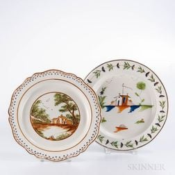 Two Staffordshire Pearlware Dishes