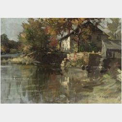 Herbert Cyrus Farnum (American, b. 1866)  The Mill, Autumn