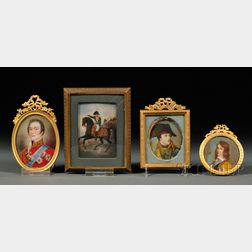 Four Portrait Miniatures of Gentlemen