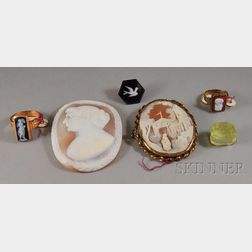 Small Group of Cameo Jewelry