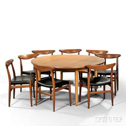 Hans Wegner (1914-2007) Dining Table and Eight Chairs