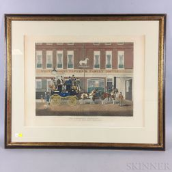 Two Framed Lithographs of Coaching Scenes