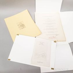 Portfolio of Eugenio Dragutescu Shakespeare Engravings.     Estimate $50-75
