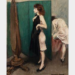 Raphael Soyer (American, 1899-1987)      Dressing Room