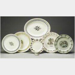 "Seven Wedgwood ""Eric Ravilious"" Designed Creamware Items"