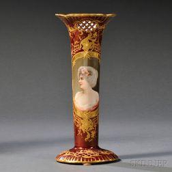 Rudolstadt Porcelain Hand-painted Vase