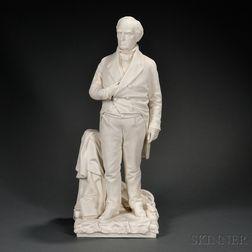 Minton Parian Figure of Daniel Webster