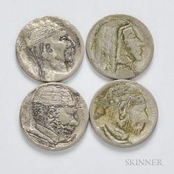 Four Hobo Nickels