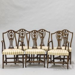 Set of Six Federal-style Mahogany Dining Chairs