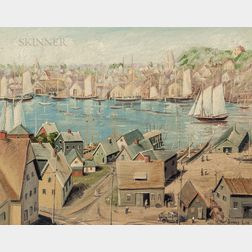 Jonas Lie (Norwegian/American, 1880-1940)      View of Gloucester, Rocky Neck