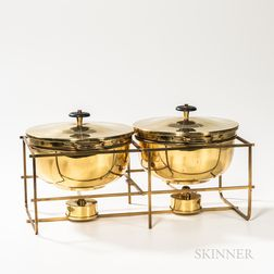 Tommi Parzinger (German/American, 1903-1981) for Dorlyn Silversmith Double Chafing Dish