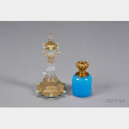 Two Victorian Glass Scent Bottles