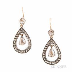 Rose-cut Diamond Earrings