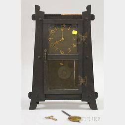 Arts & Crafts Oak Mantel Clock