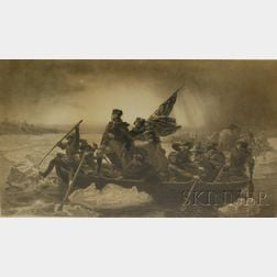 Paul Girardet (French, 1821-1893) Engraver, After Emanuel Gottlieb Leutze (American, 1816-1868) Washington Crossing the Delaware. Si...