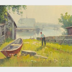 Charles Gordon Harris (American, 1891-1963)      Wickford Harbor