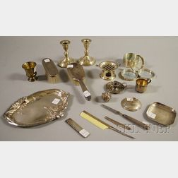 Group of Assorted Silver Tableware and Personal Items
