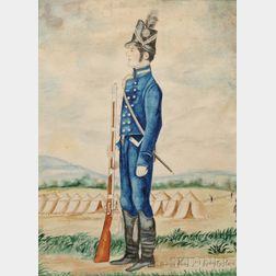 Figure Study of a War of 1812 Infantryman