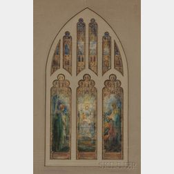 Ecclesiastical Department, Studio of Louis Comfort Tiffany (American, 1848-1933), The Epiphany (Adoration of the Magi), Suggestion for