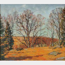 Robert Emmett Owen (American, 1878-1957)      Autumn Landscape