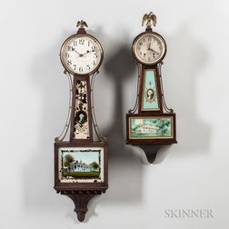 "Two ""Banjo"" Wall Clocks"